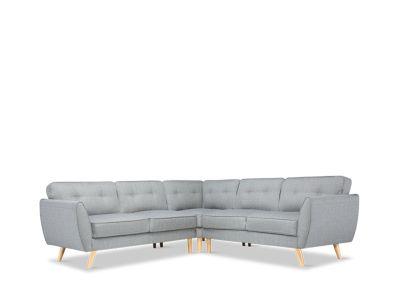 Harlow Light Grey Corner Sofa