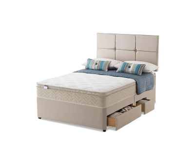 Silentnight Rio Miracoil Cushion Top Double Divan Bed