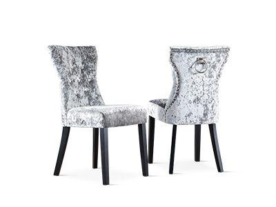 Kensington Silver Velvet Chairs