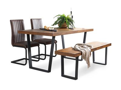 Addison and Perth Dining Set with Bench