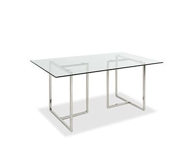 Lisbon Chrome and Glass 160cm Dining Table
