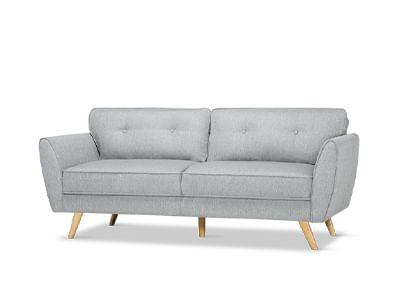 Harlow Light Grey 3 Seater Sofa