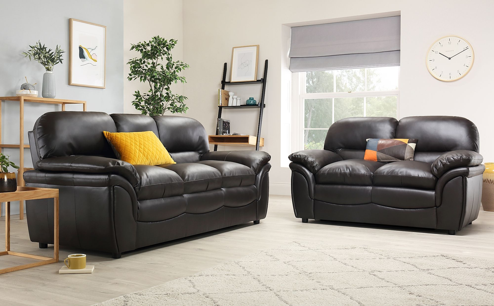 Amazing Rochester Brown Leather 3 2 Seater Sofa Set Squirreltailoven Fun Painted Chair Ideas Images Squirreltailovenorg