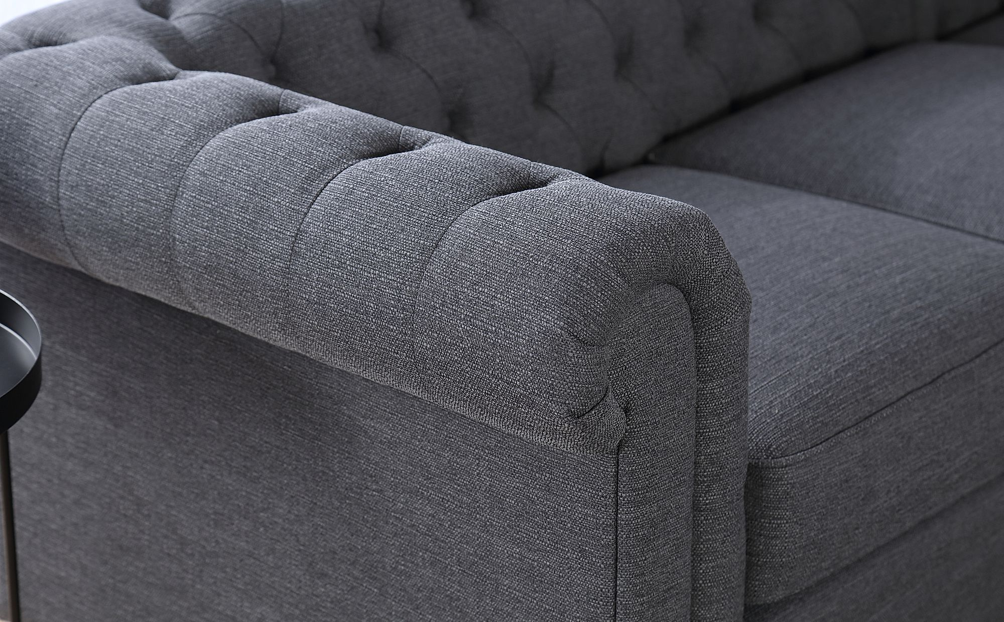 Admirable Hampton Slate Fabric L Shape Chesterfield Corner Sofa Inzonedesignstudio Interior Chair Design Inzonedesignstudiocom