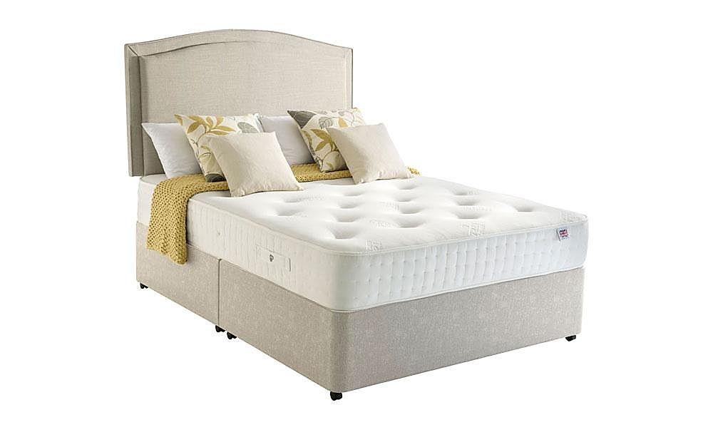 Rest assured harewood 800 memory foam double divan bed for Double divan bed with memory foam mattress
