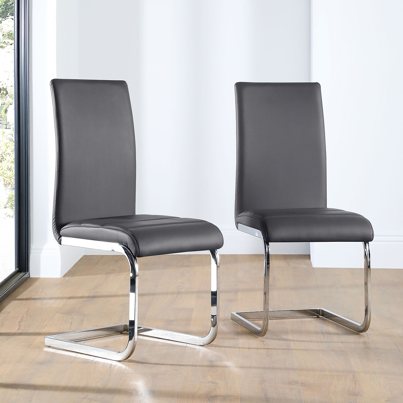 wholesale dealer 836d0 cf214 Perth Leather Dining Chair - Grey