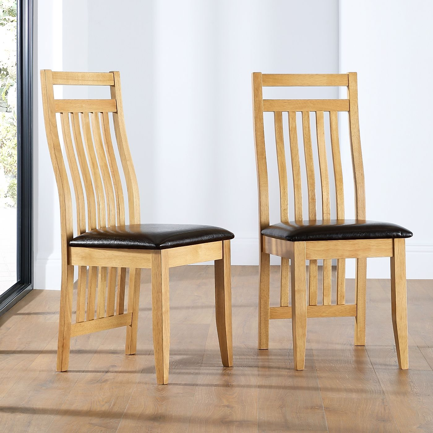Bali Natural Oak Dining Chair Only 163 59 99 Furniture Choice