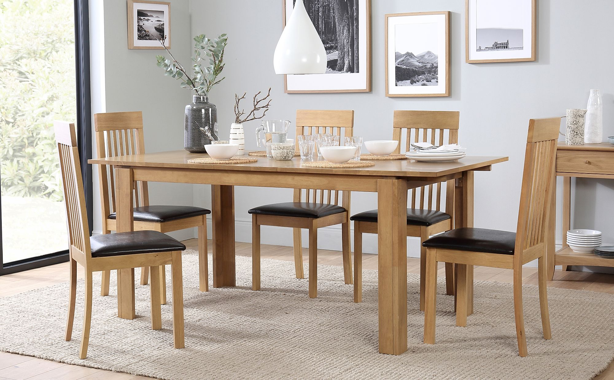 Bali Extending Dining Table and 6 Oxford Chairs Set Only 39999