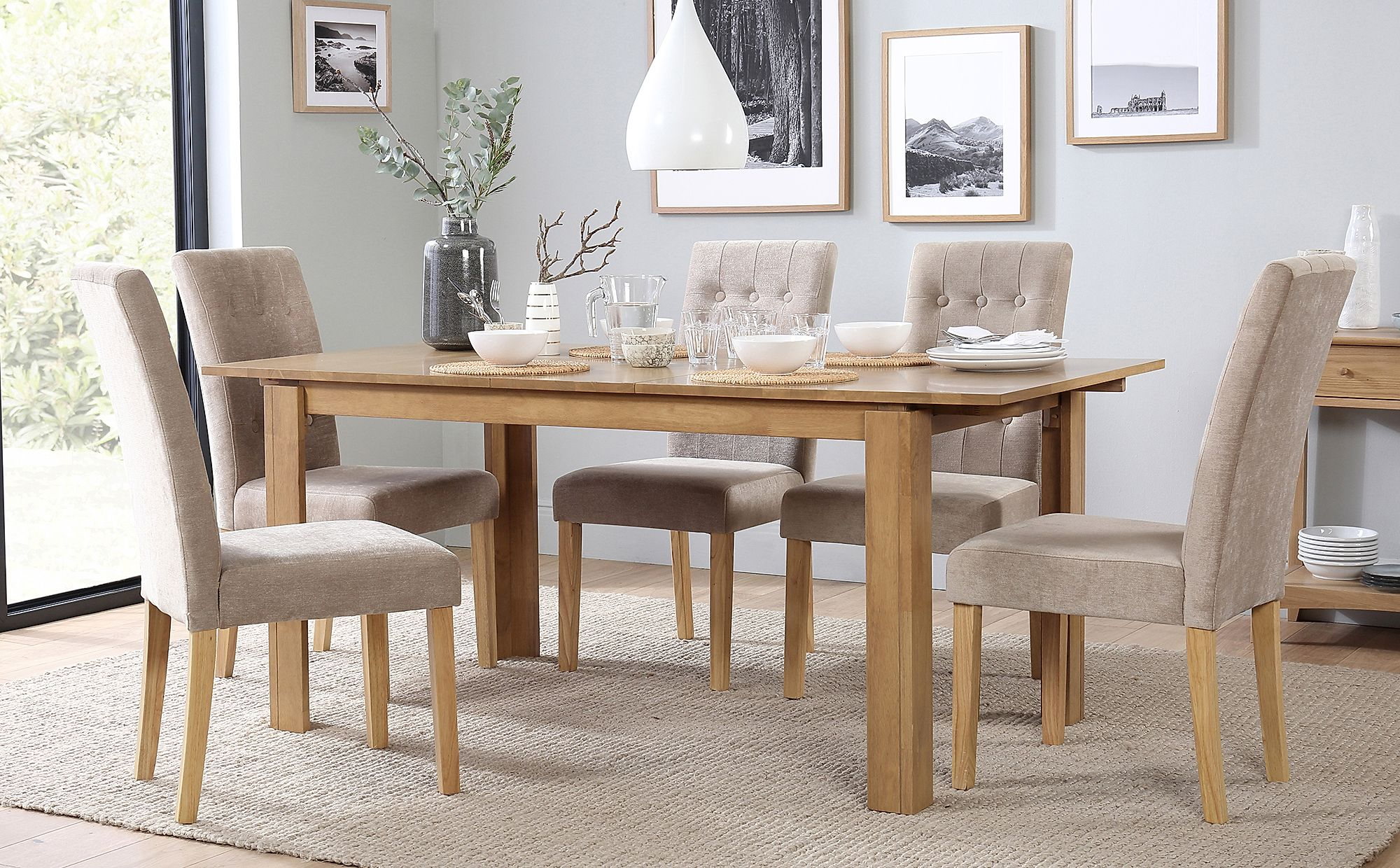 bali regent extending oak dining room table and 4 6 chairs set rh ebay co uk  ebay uk dining room table and chairs