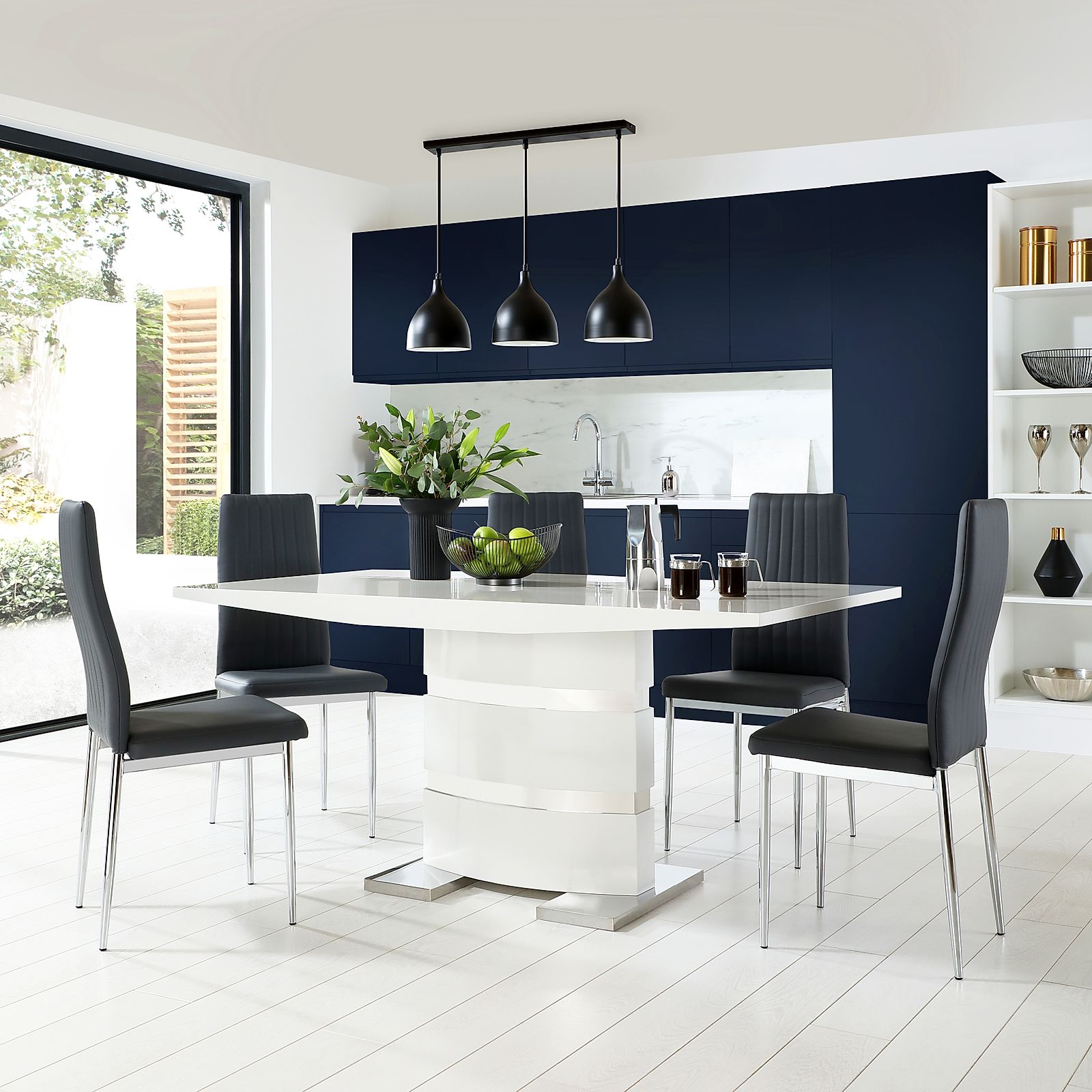 Gallery Komoro White High Gloss Dining Table