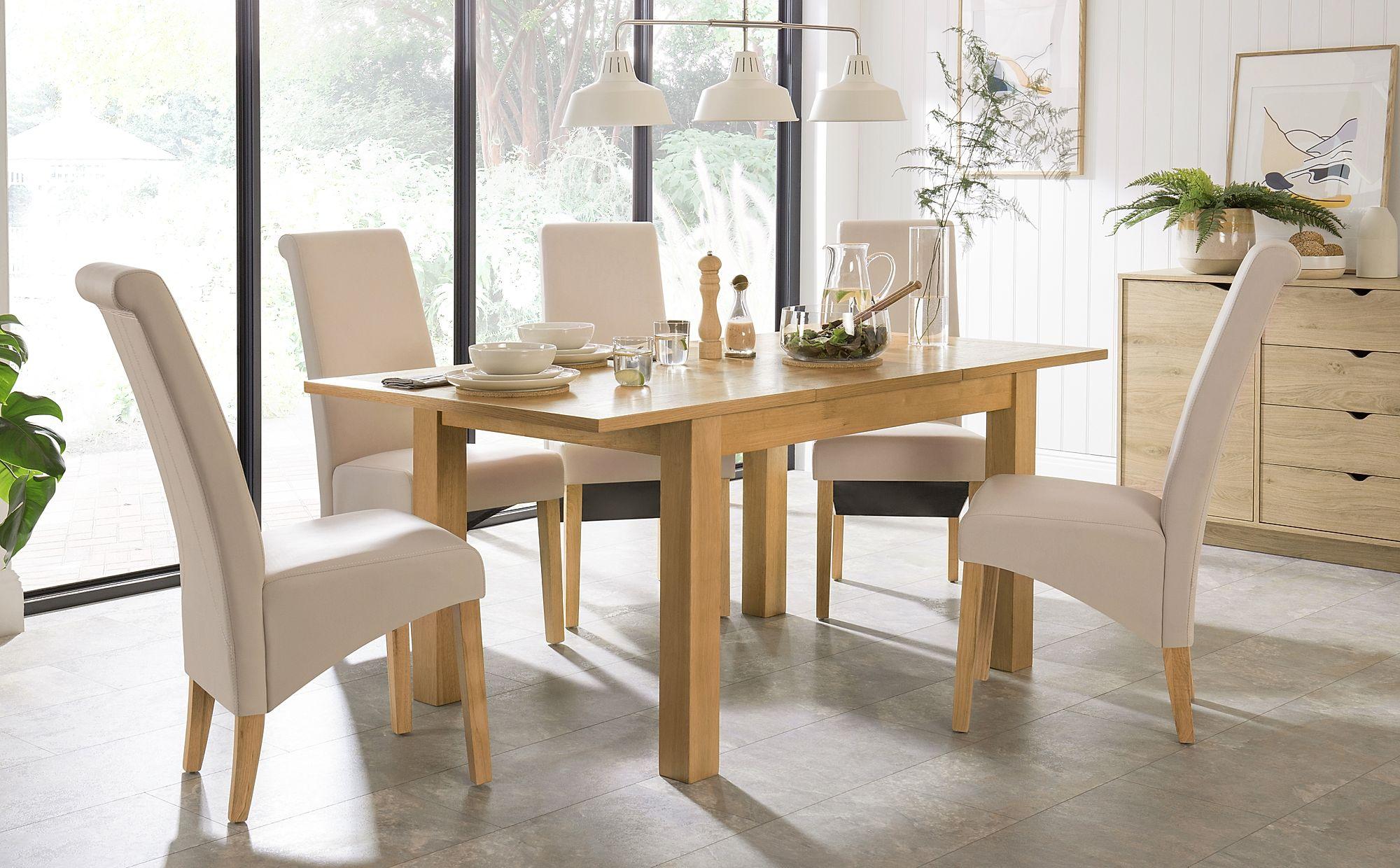 Hamilton 120 170cm Oak Extending Dining Table With 4