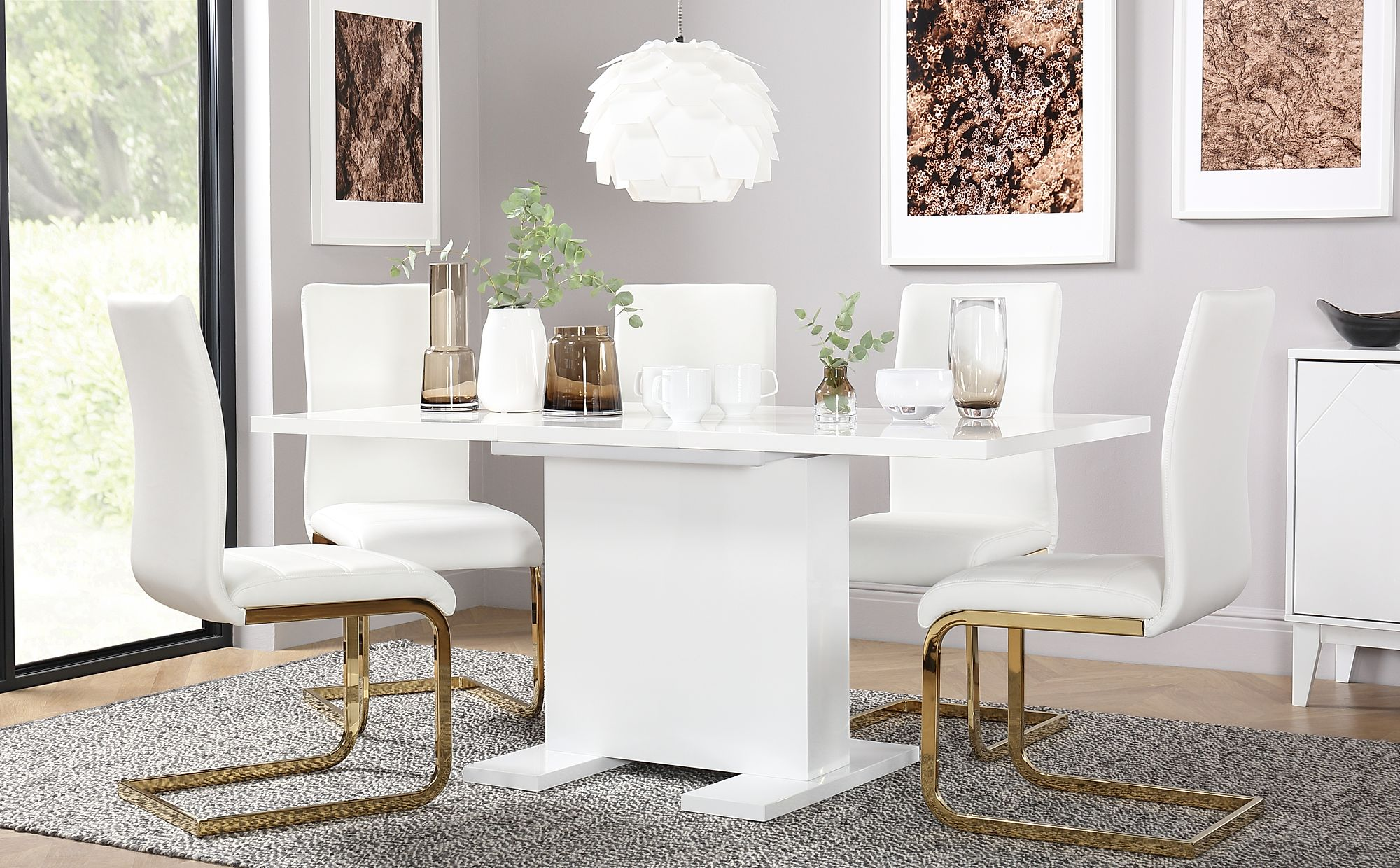 Osaka Amp Perth Extending Dining Room Table And