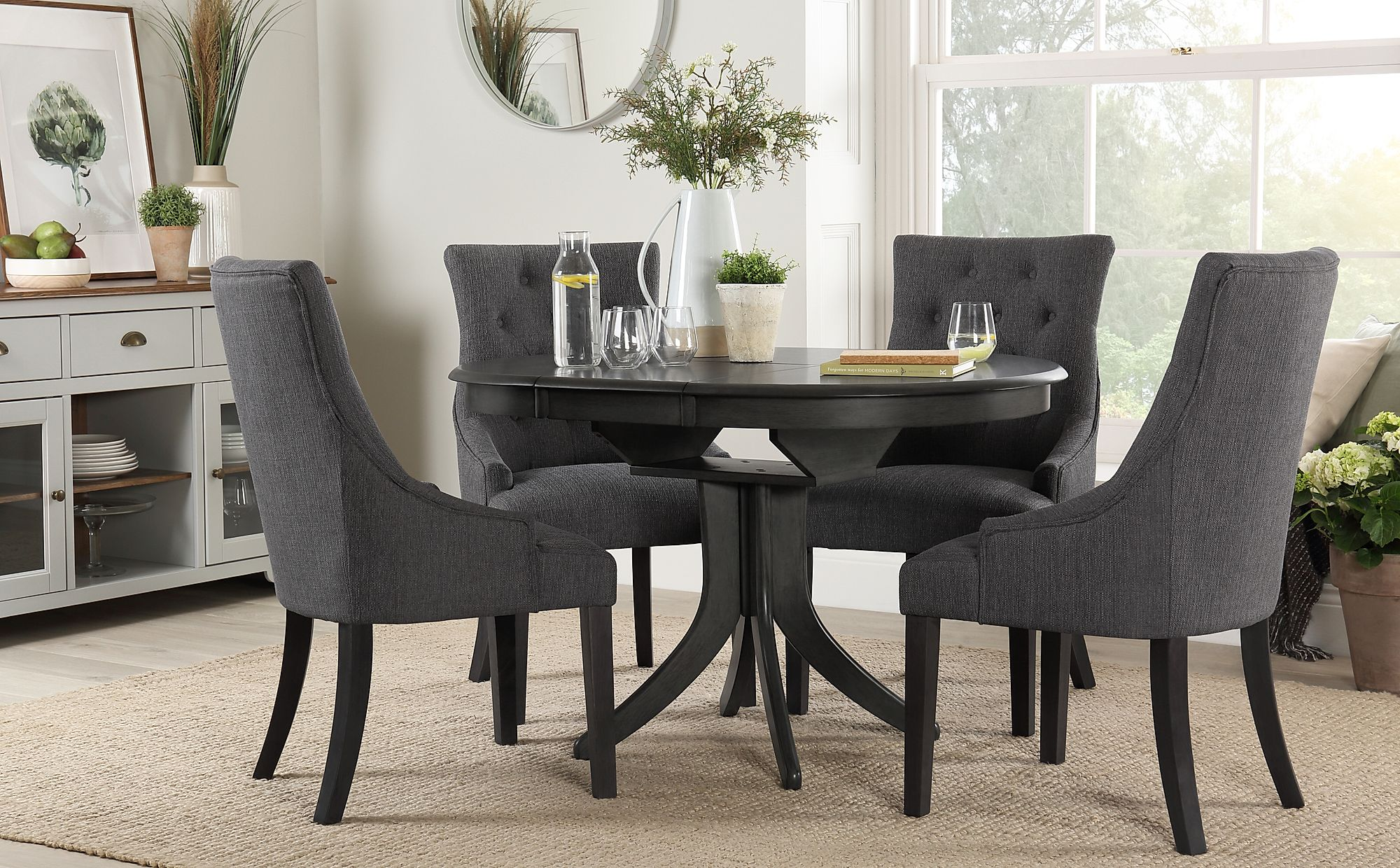 Grey Wood Dining Room Table