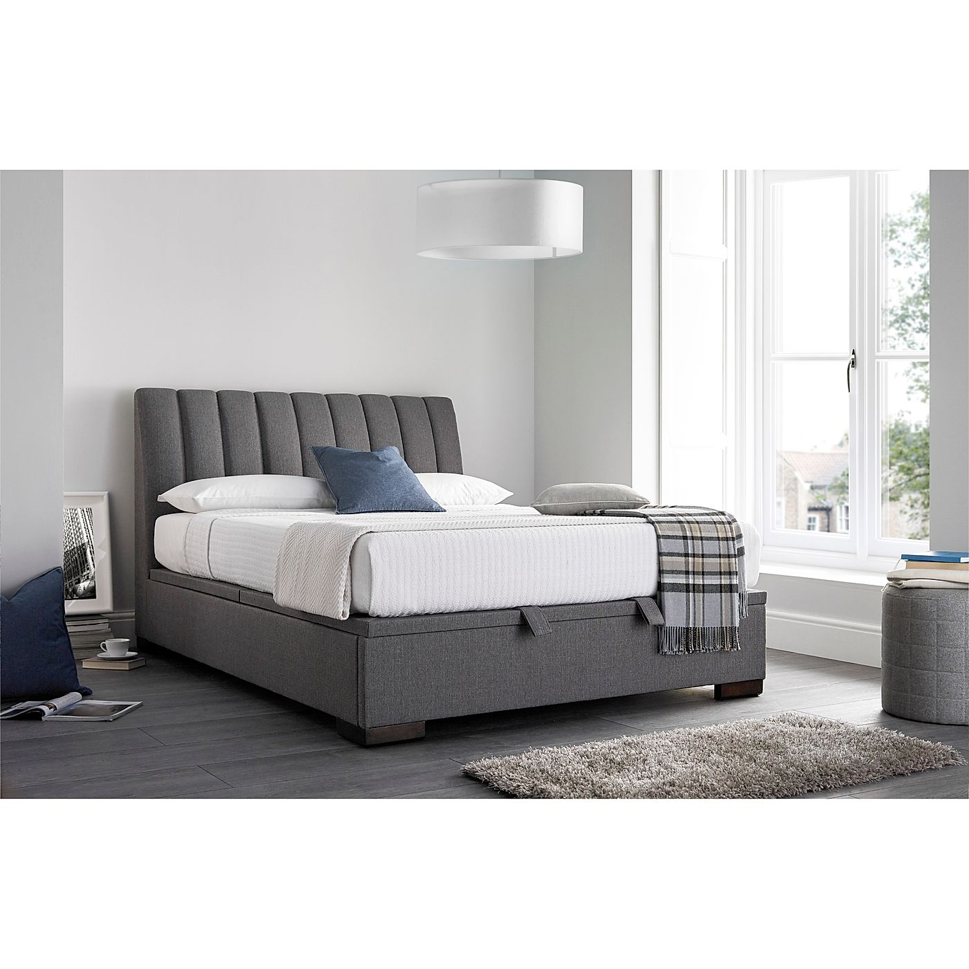 4fa87f7380c0 Kaydian Lanchester Ottoman Storage Bed - Double - Grey Only £680.00 ...