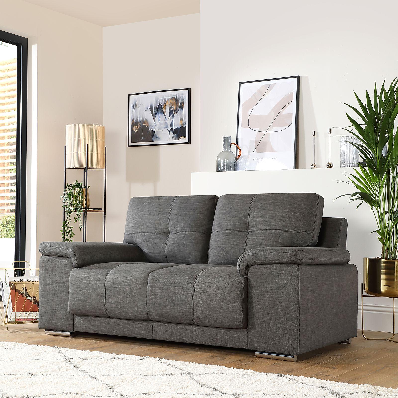 Bon Gallery. Kansas 2 Seater Fabric Sofa   Slate Grey