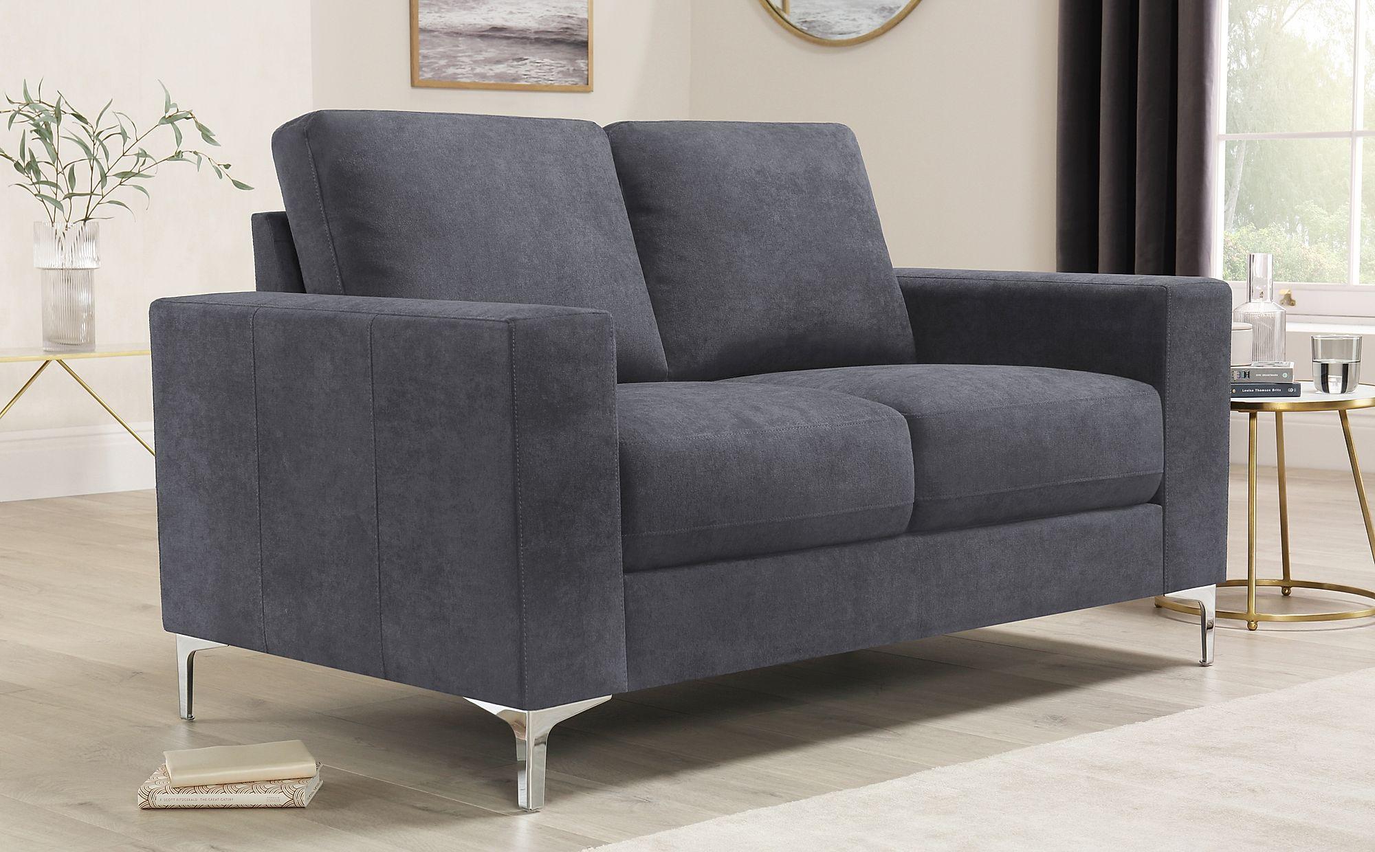 a5e8337289 Baltimore Slate Grey Plush Fabric Sofa 2 Seater Only £349.99 ...