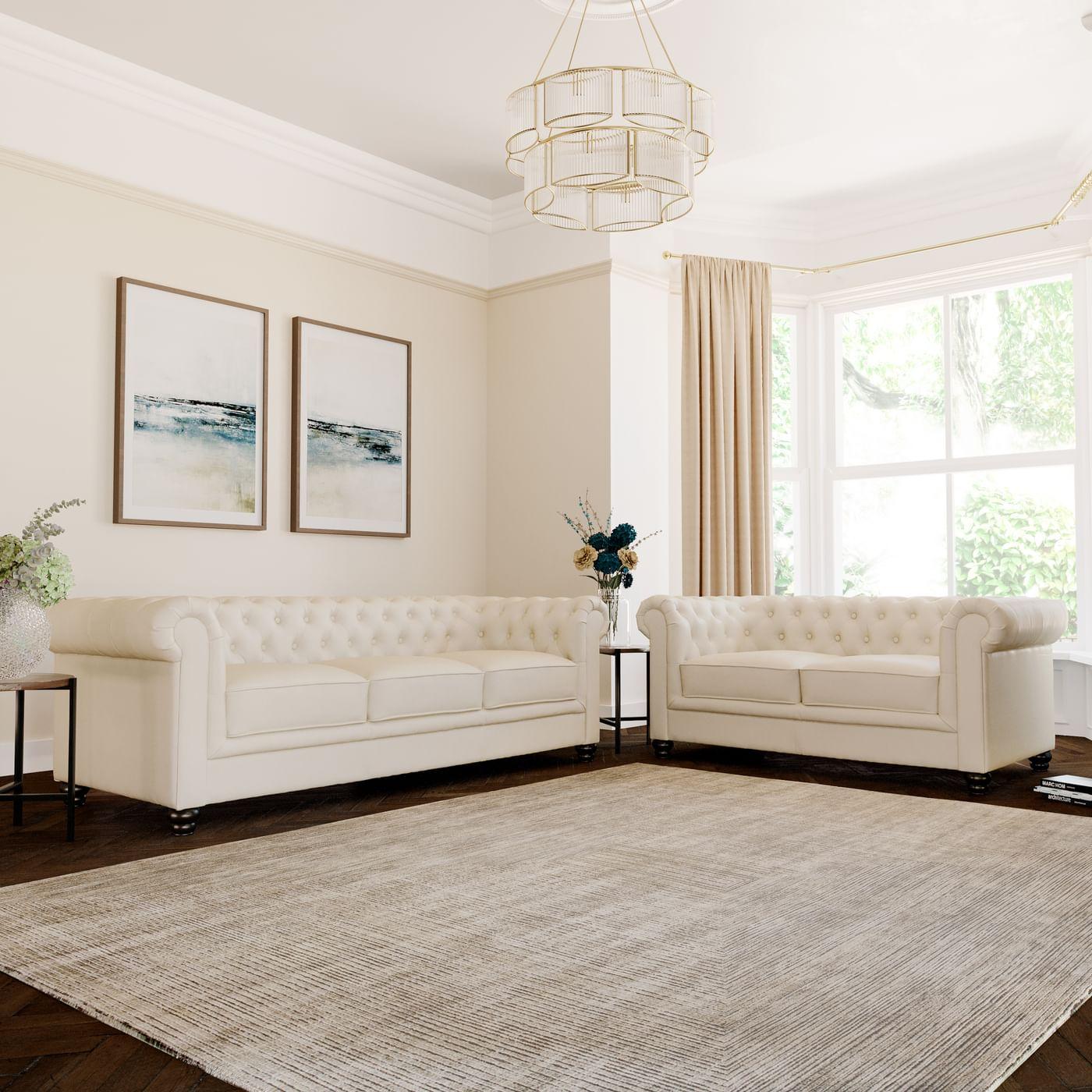 Merveilleux Gallery. Hampton Leather Chesterfield Sofa ...