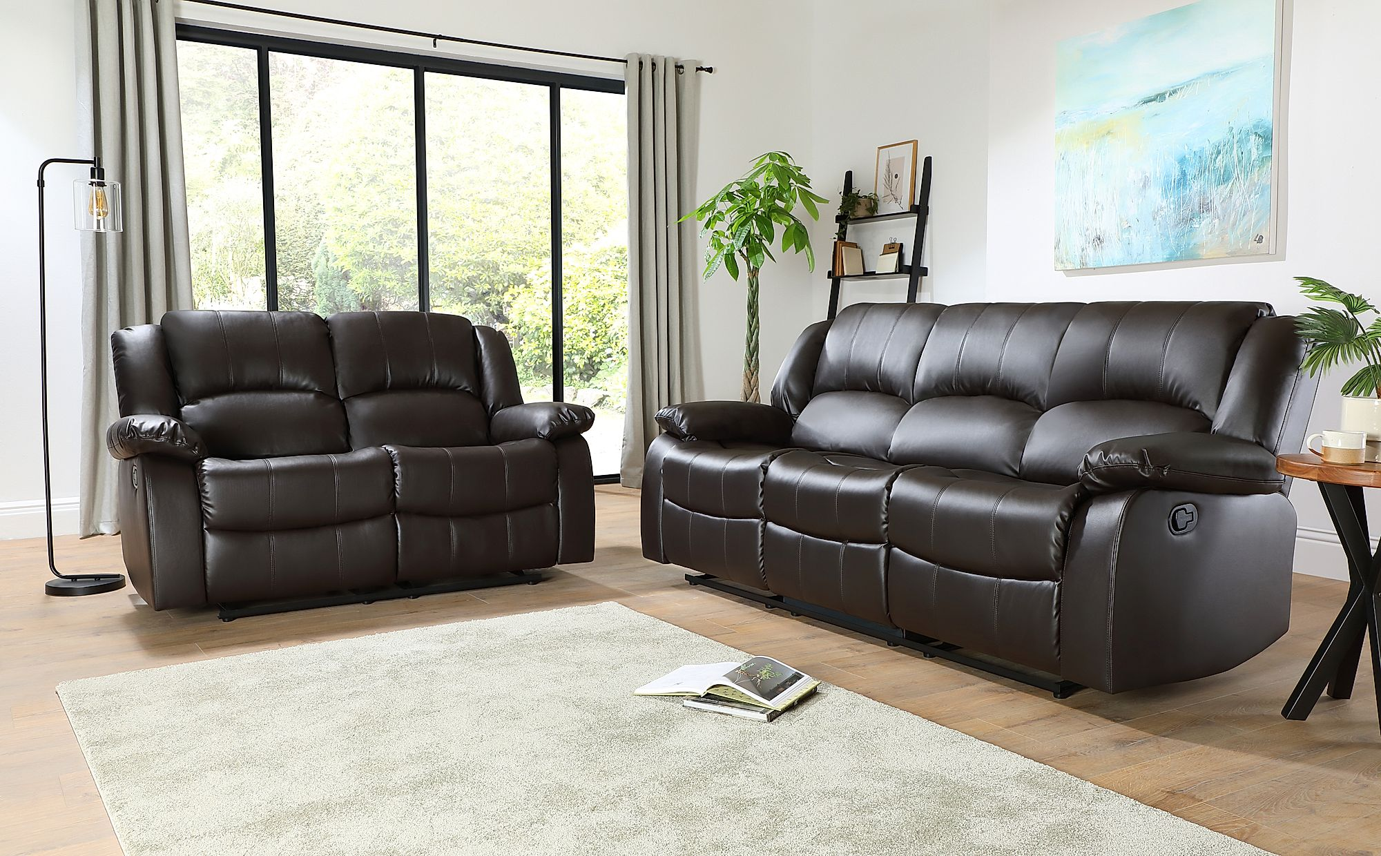 3 Seater Recliner Leather Sofa