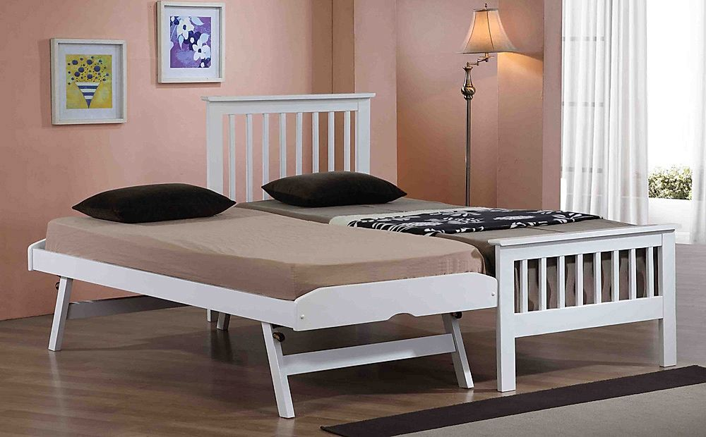 Gallery Pentre White Wooden Single Guest Bed