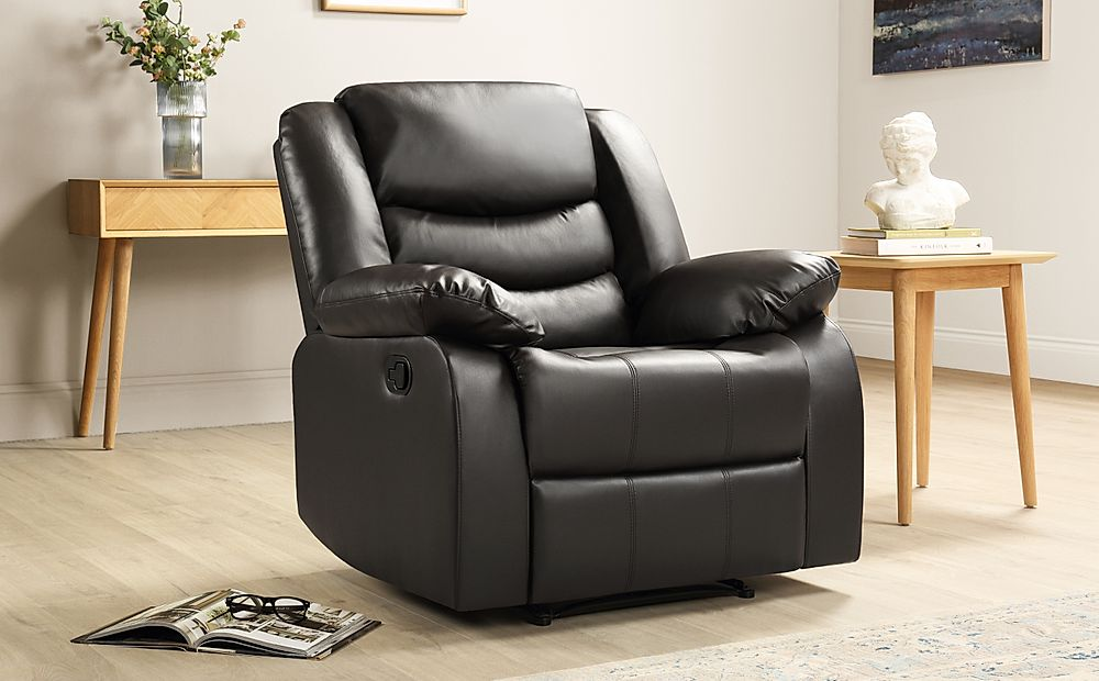 Sorrento Leather Recliner Armchair (Brown)