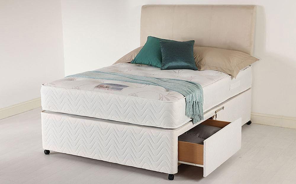 Healthopaedic Total Comfort 1000 Small Double Memory Foam 2 Drawer Divan Bed - Medium