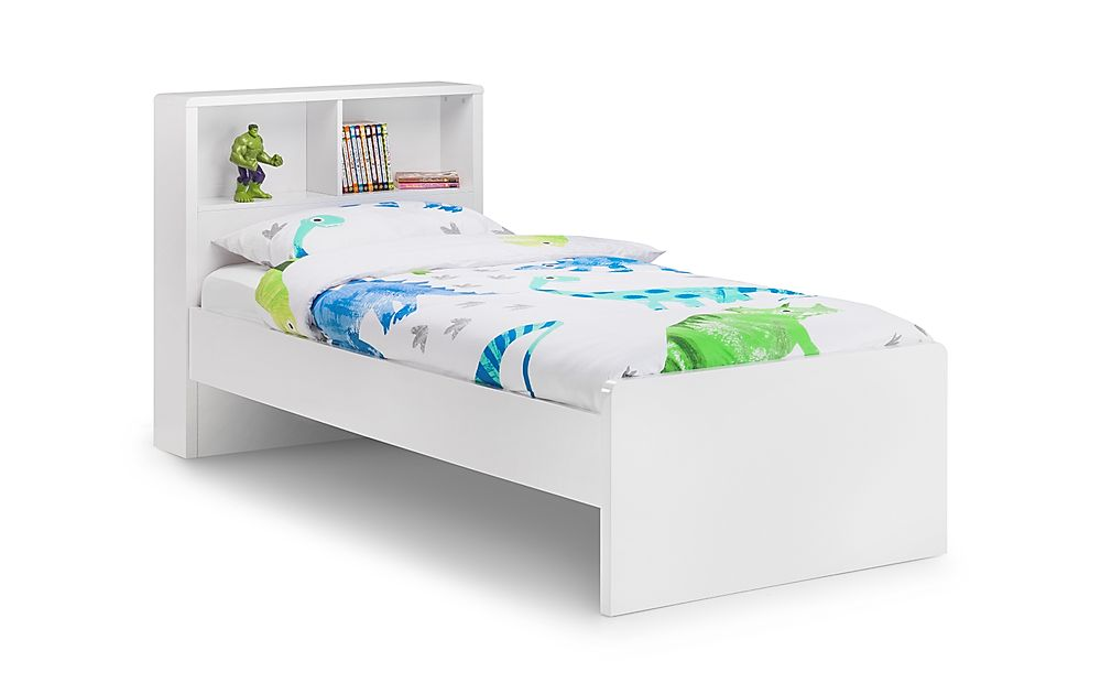Coco White High Gloss Storage Bed Single
