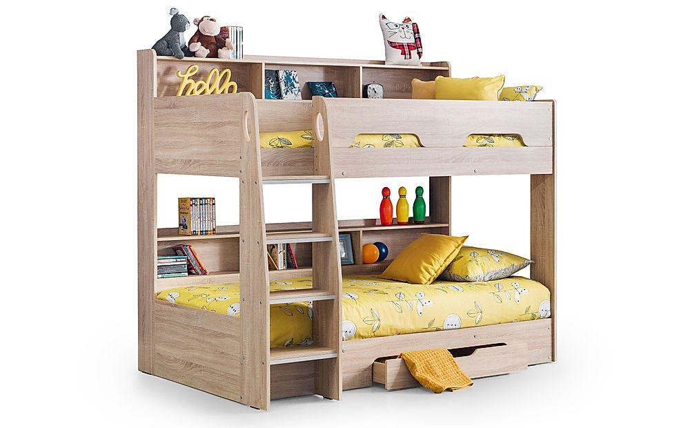 Apollo Oak Bunk Bed with Storage Single
