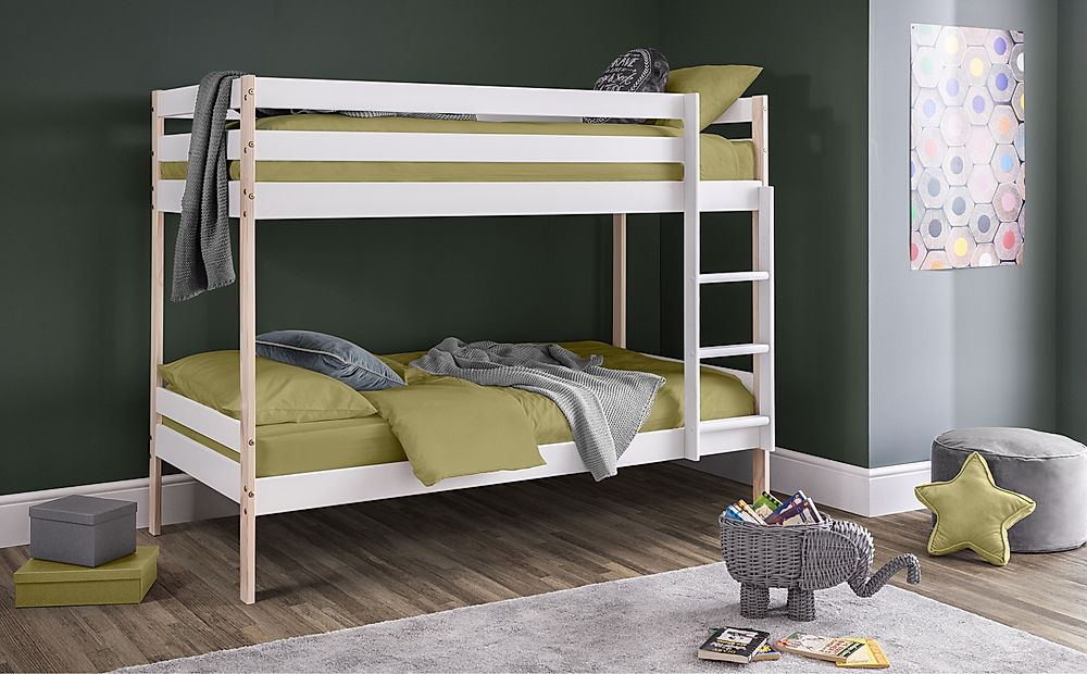 Fern White & Pine Bunk Bed Single