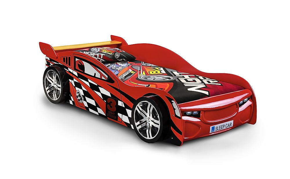 Scorpion Red Racing Car Bed Single