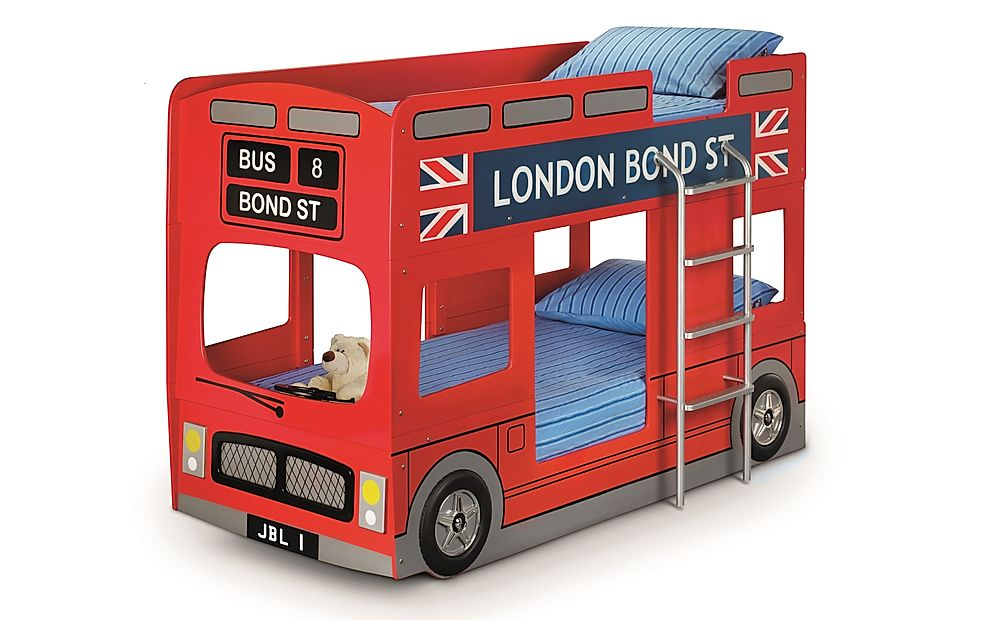 London Bus Red Bunk Bed Single