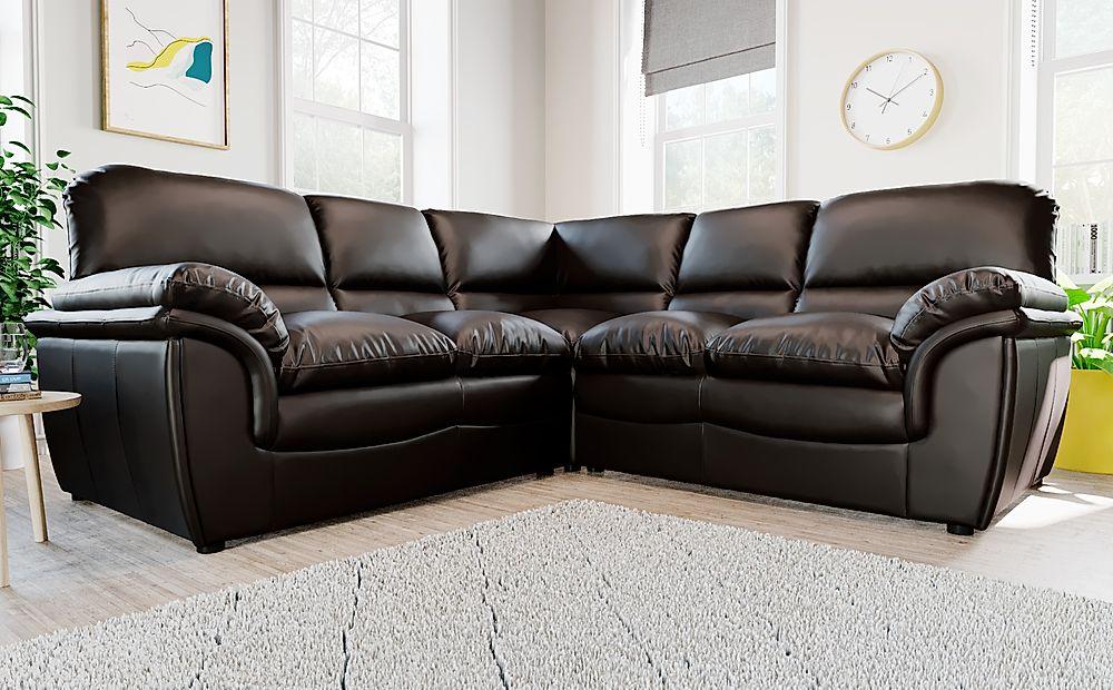 Rochester Brown Leather Corner Sofa