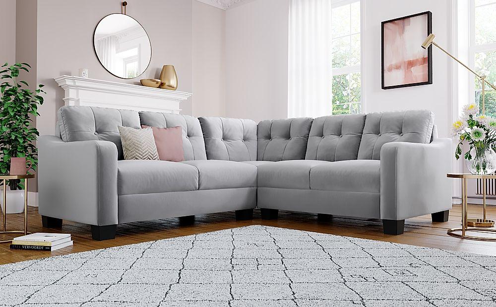 Belmont Grey Velvet Corner Sofa