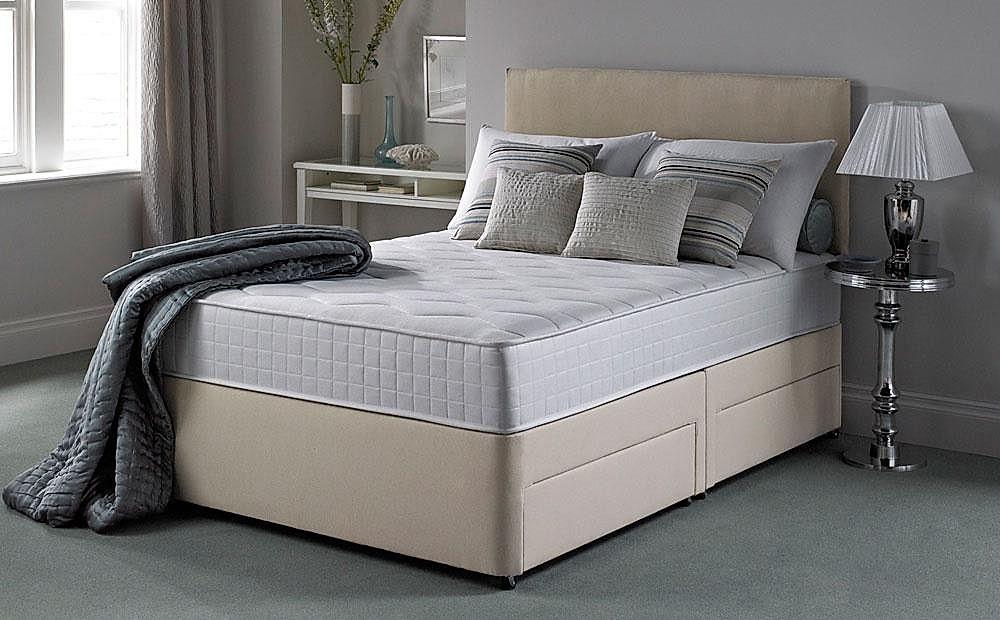 Silentnight Pocket Essentials 1000 Mirapocket Double 4 Drawer Divan Bed