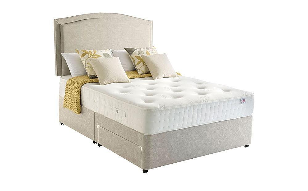 Rest Assured Harewood 800 Memory Foam 2 Drawer King Size Divan Bed