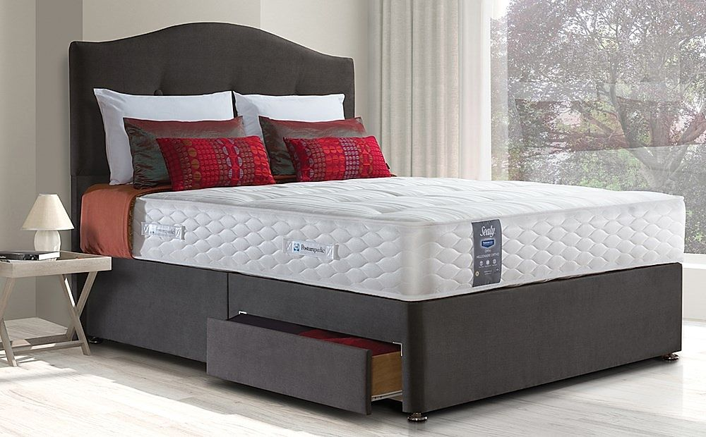 Sealy Pearl Ortho King Size 2 Drawer Divan Bed