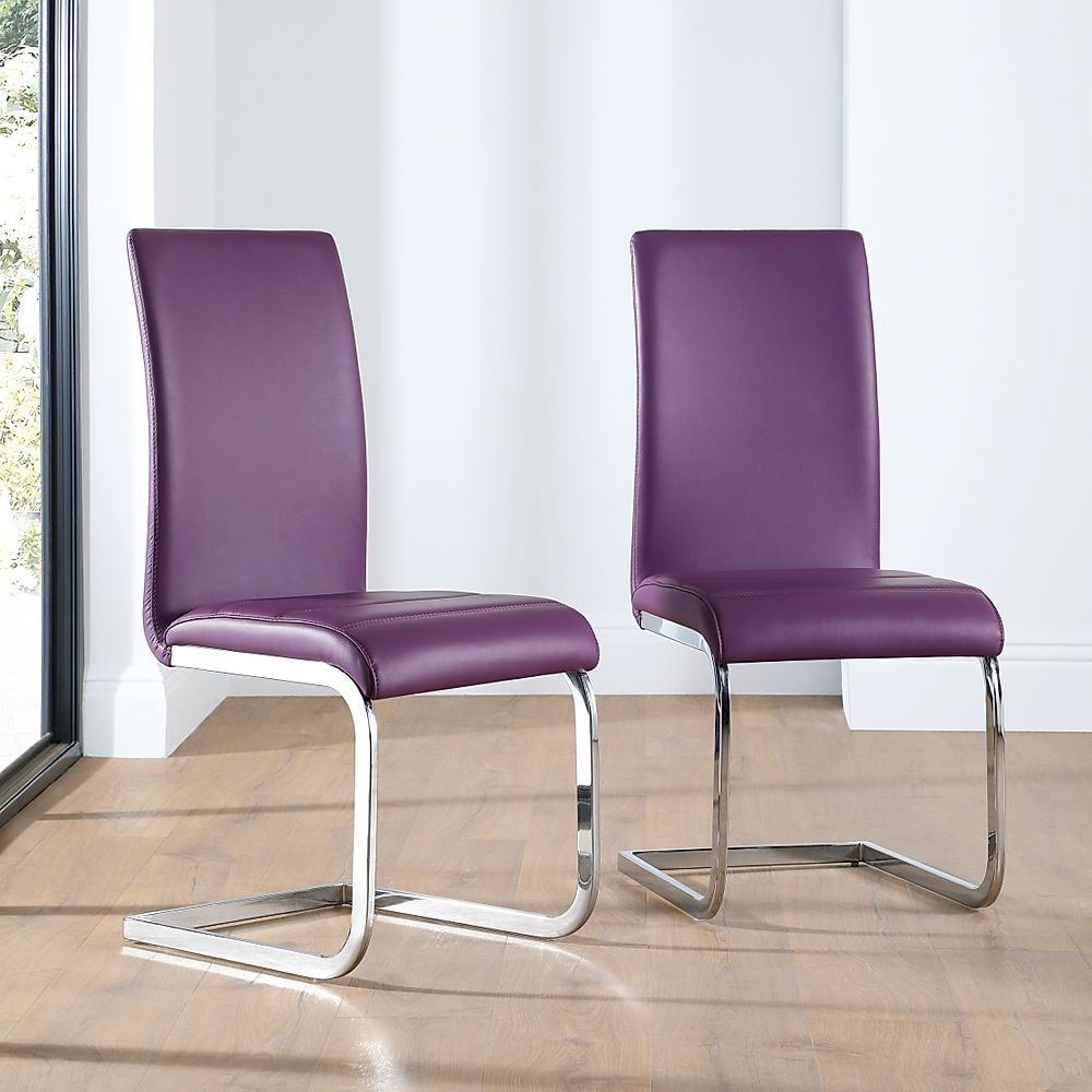 perth leather dining chair purple only furniture. Black Bedroom Furniture Sets. Home Design Ideas