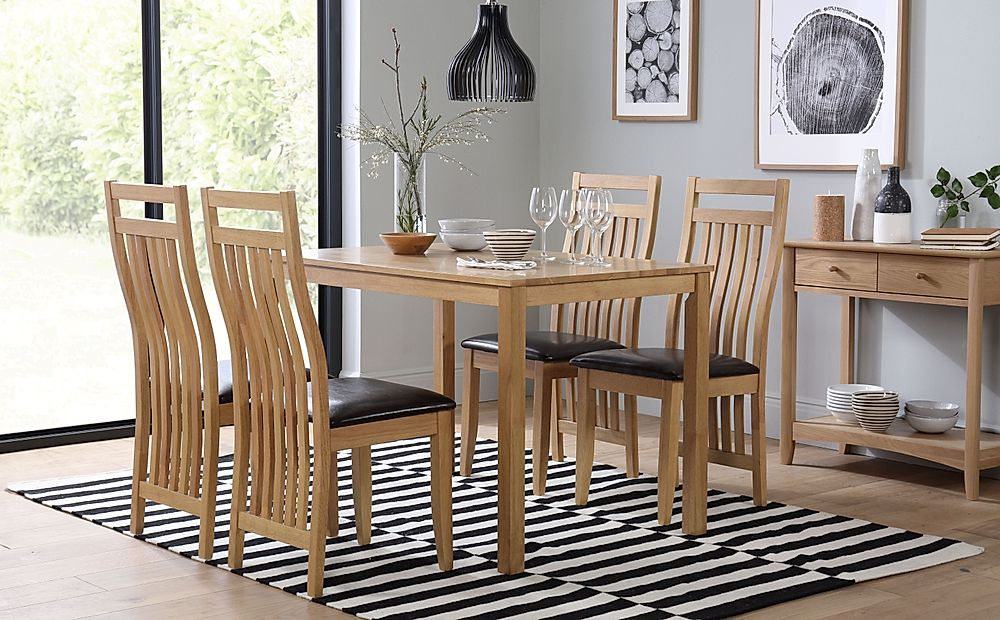 Milton Dining Table and 6 Bali Chairs Set