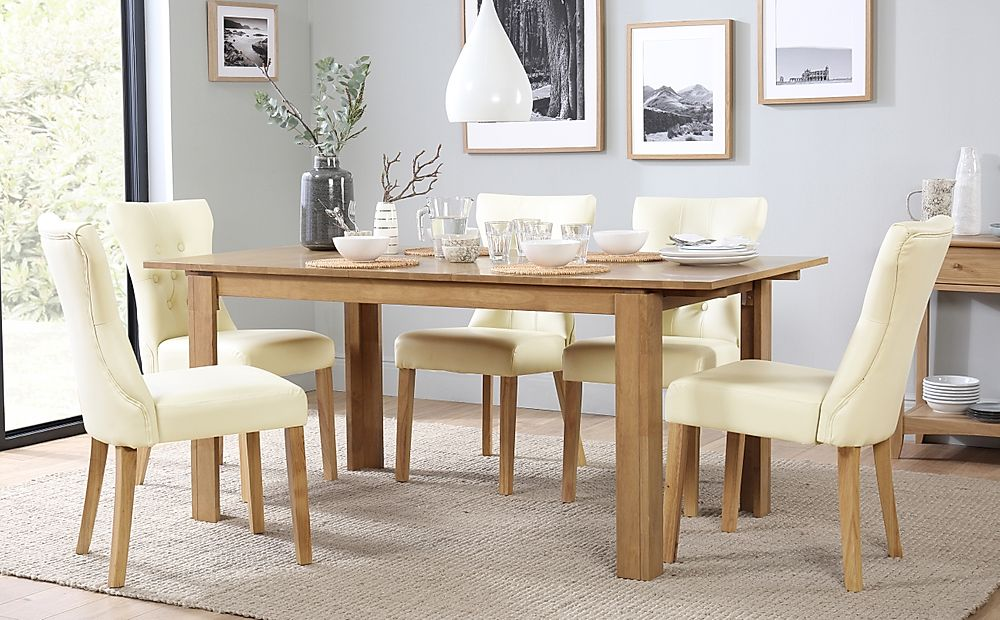 Bali Extending Dining Table & 4 Chairs Set (Bewley Ivory)