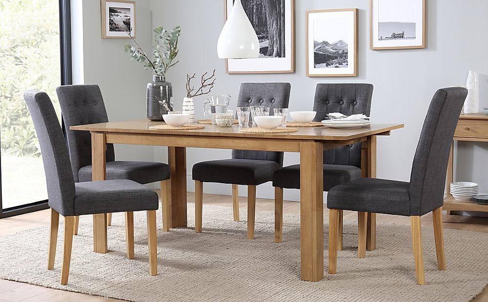 Bali Extending Dining Table & 6 Chairs Set (Regent Slate)