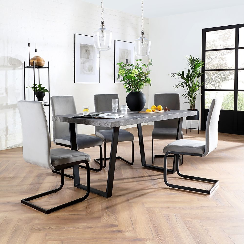 Addison 150cm Concrete Dining Table, Concrete Dining Room Table