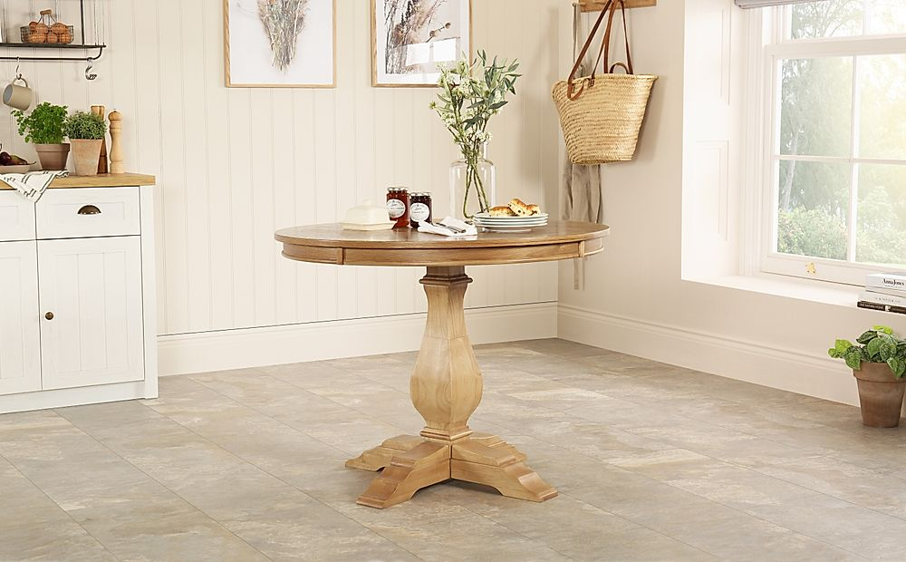Cavendish Round Oak Dining Table 100cm