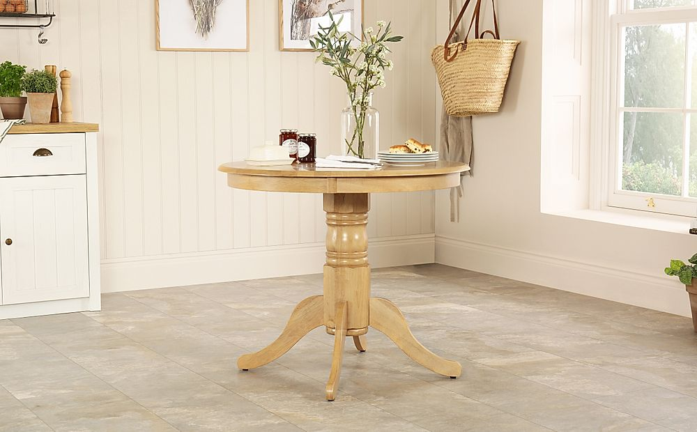 Kingston Round Oak 90cm Dining Table