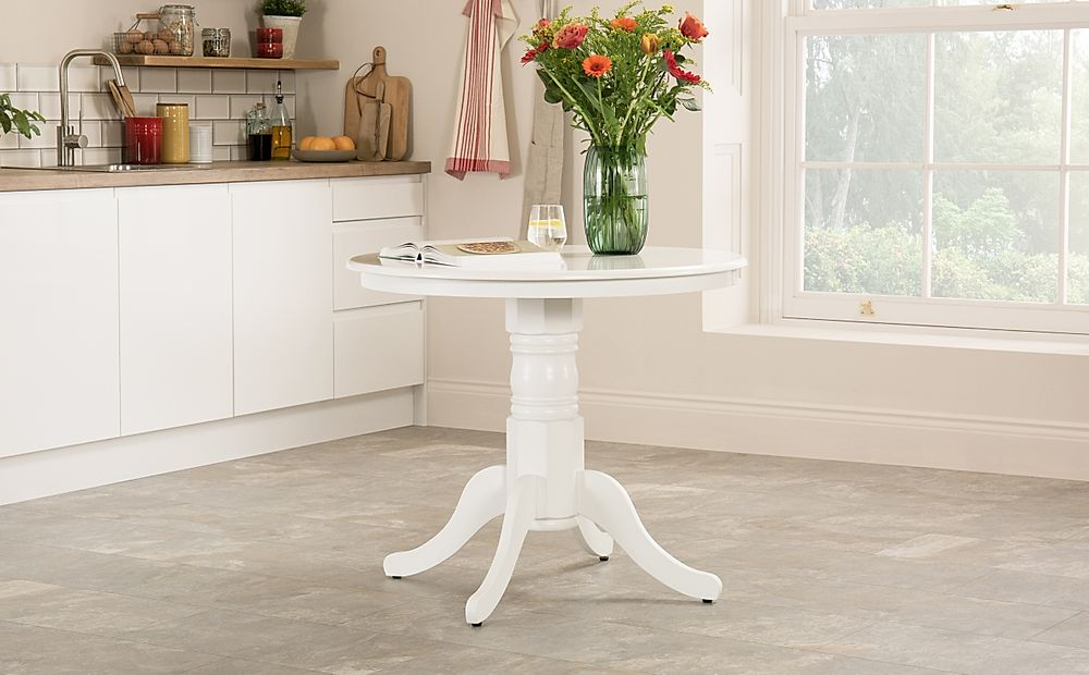 Kingston Round White Dining Table 90cm