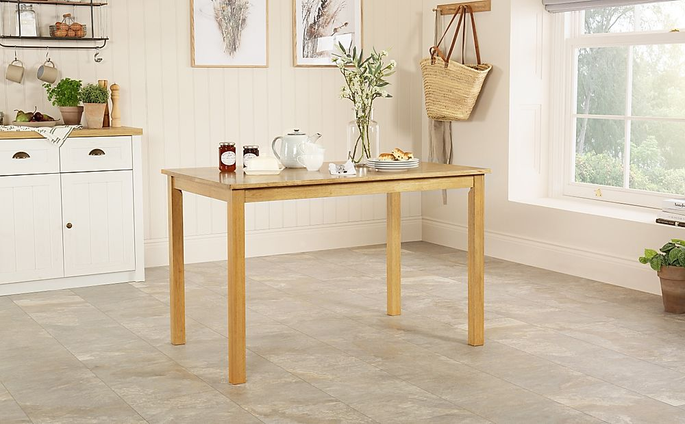 Milton Natural Oak Dining Room Table 120x75
