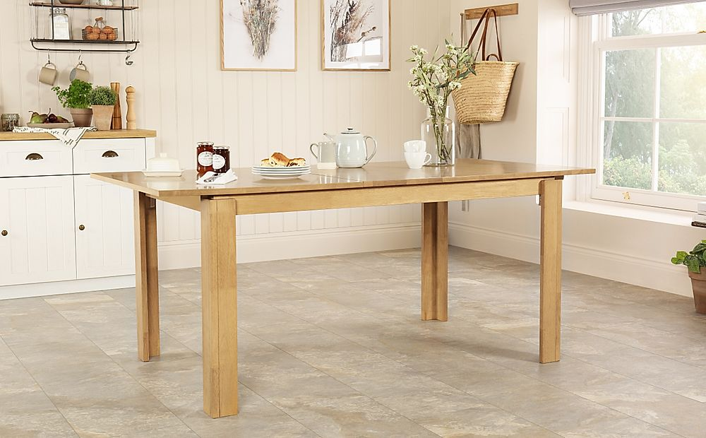 Bali Extending Natural Oak Dining Room Table 150-180cm