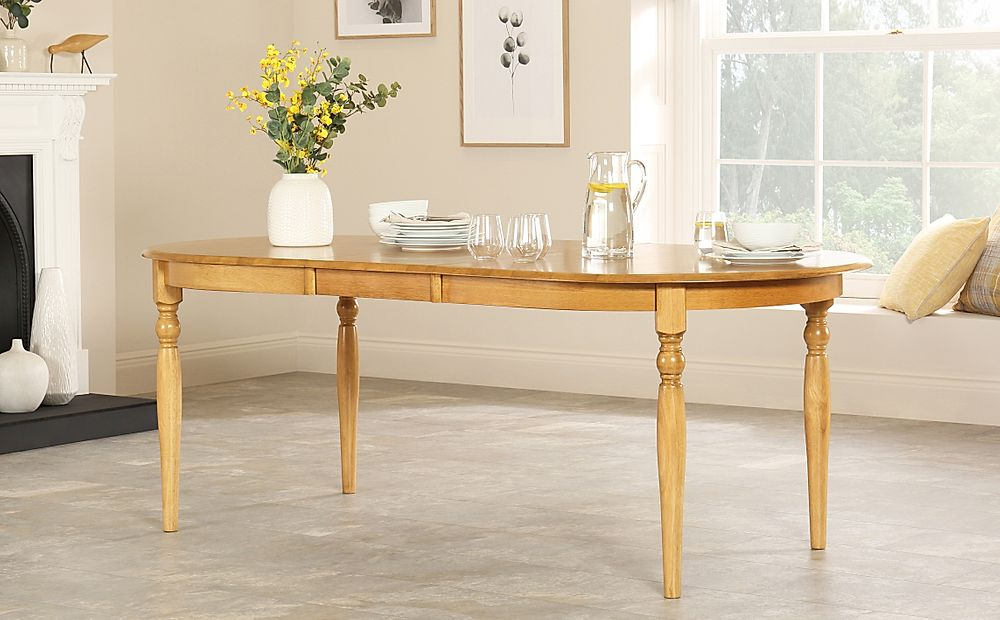 Albany Oval Oak Extending Dining Table 170-210cm
