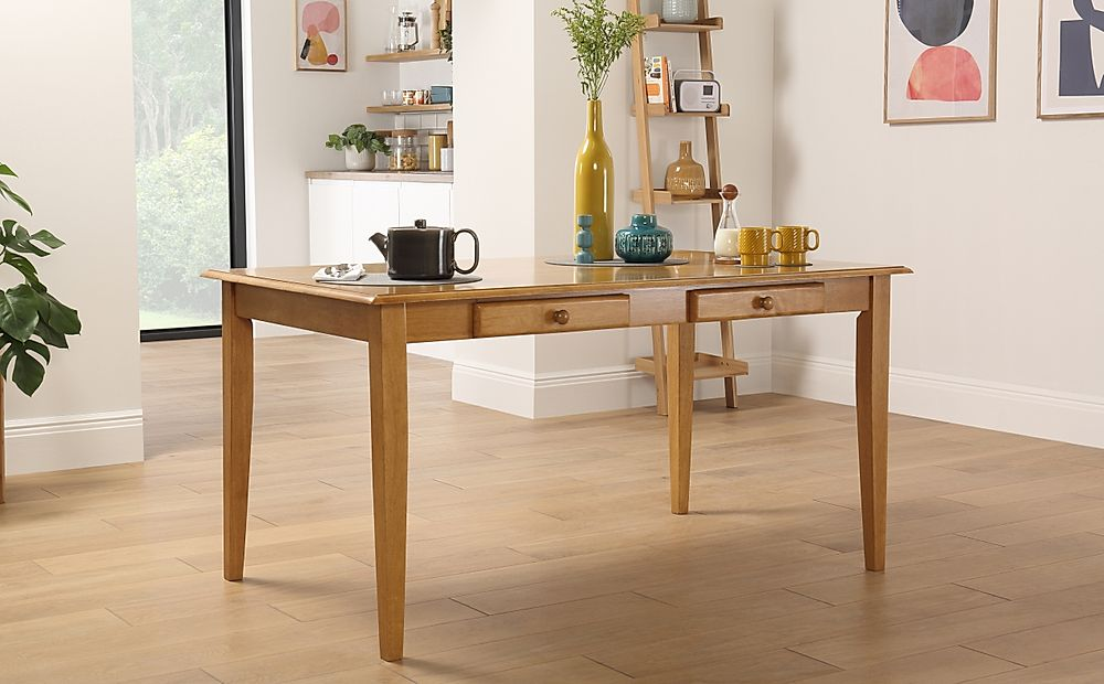 Wiltshire Oak Dining Table with Storage 150cm