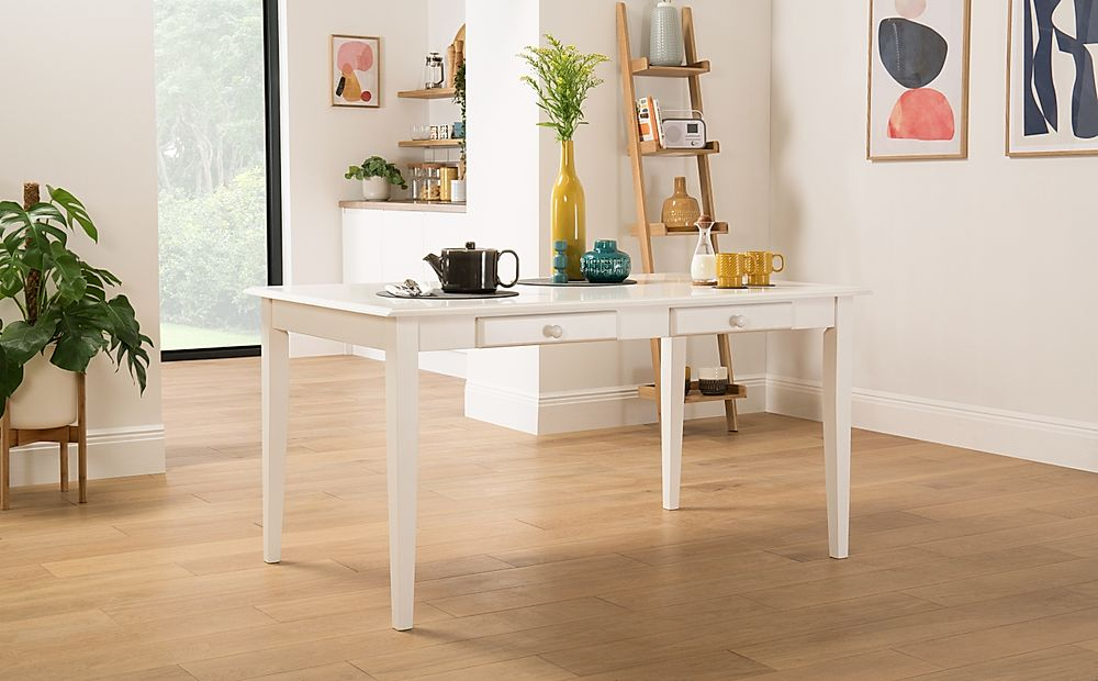 Wiltshire White Dining Table with Storage - 150cm