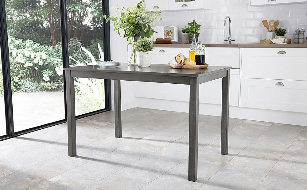 Milton Grey Wood Dining Table 120cm