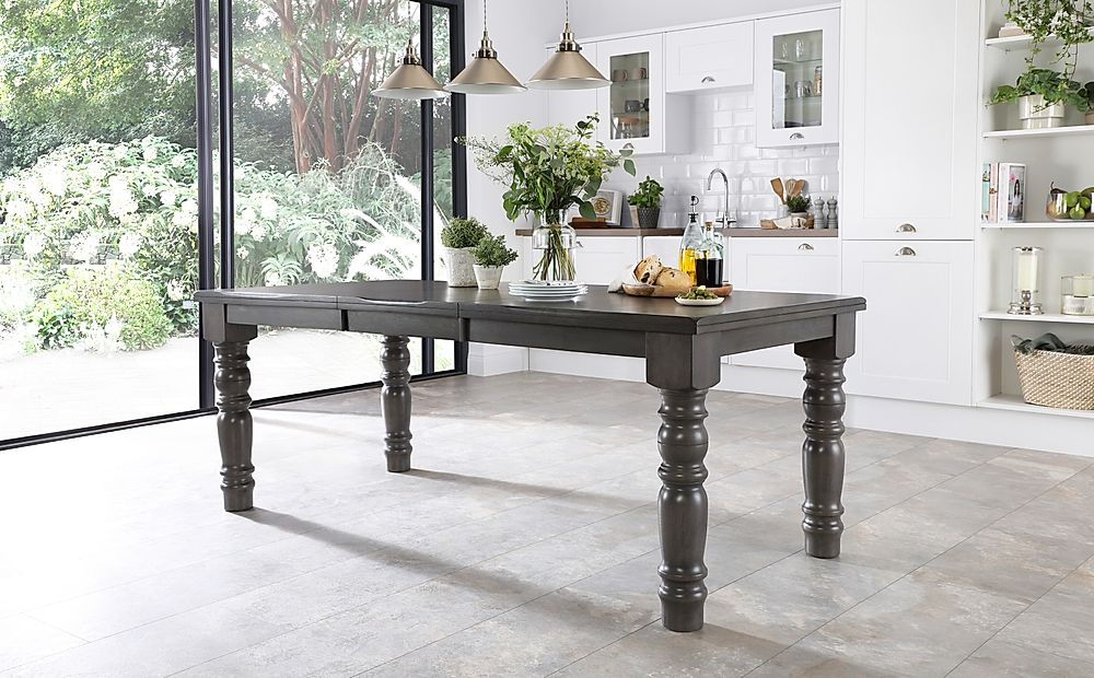 Hampshire Grey Wood Extending Dining Table 150-200cm